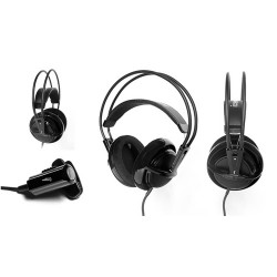 Наушники SteelSeries Siberia Full-Size COMBO + Sound card, Black, USB